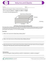 volume worksheets education com