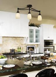 Track Light In Kitchen Traditional Track Lighting Adds Style To Transitional Kitchen