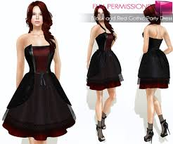 second life marketplace full perm rigged mesh black and red