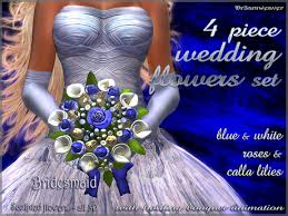 Wedding Flowers Blue And White Second Life Marketplace Dr3amweaver 8 Piece Wedding Flowers