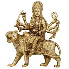 buy brass sculptures and statues durga idol religious hindu home