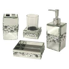 Bath Accessories Collections Crackle Mirror Bathroom Accessories