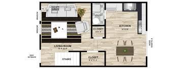 Two Story Apartment Floor Plans Oak Terrace Apartments