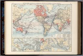 Map Of Ocean Currents British Empire Showing The Commercial Routes Of The World And
