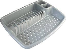 kitchen sink drainer large 49cm silver plastic kitchen sink washing up dish drainer rack