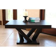 espresso wood coffee table abbyson cosmo espresso wood square coffee table free shipping