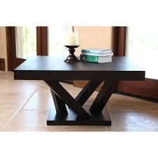 espresso square coffee table abbyson cosmo espresso wood square coffee table free shipping