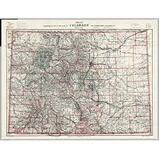 colorado topographical wall map by maps