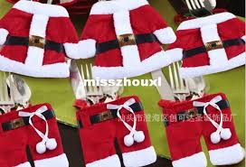 Buy Christmas Decorations Bulk by Fashion Christmas Clothes Pants Bag Tableware Set Novelty