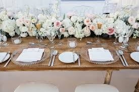 Blush Pink Table Runner Elegant Beachside Destination Wedding In Playa Del Carmen Mexico