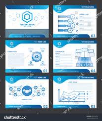 abstract blue presentation templates vector illustration stock