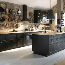 kitchen ideas with black cabinets pictures of kitchens with black cabinets varnished striped wood