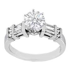 engagement rings with baguettes engagement ring engagement ring baguettes