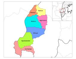 Rwanda Map West Province Districts U2022 Mapsof Net