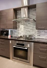 kitchen with stainless steel backsplash kitchen stainless steel recirculating vent with smart tile
