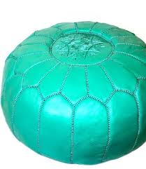 ottoman healy teal leather tufted ottoman teal leather cocktail