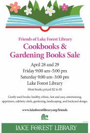 friends of lake forest library announce the spring cookbook and