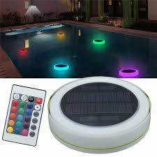 solar pool lights underwater ip68 waterproof rgb led underwater pool light solar power energy
