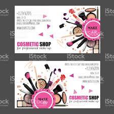 cosmetic shop business card design set stock vector art 577950398