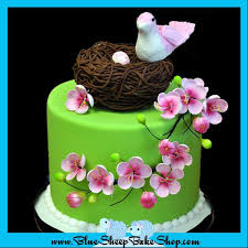 baby bird baby shower cake blue sheep bake shop