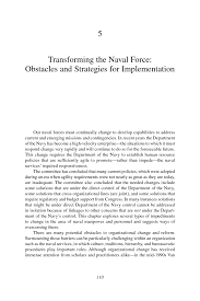5 transforming the naval force obstacles and strategies for