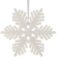 36 6 1 2 white glitter snowflake ornaments winter