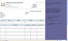 Free Auto Repair Invoice Template Excel Automotive Repair Invoice Template Invoice Software