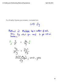 4 3 adding u0026 subtracting rational expressions