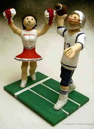football wedding cake toppers wedding cake topper personalized for football player and