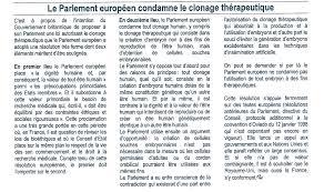 parlement europ n si e le parlement européen condamne le clonage thérapeutique gènéthique