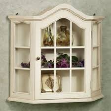 Wall Curio Cabinet With Glass Doors Vintage Wooden Wall Curio Cabinet Glass Door Corner Shelf Display