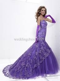 Purple Wedding Dress Romantic Purple Mermaid Wedding Dresses Cherry Marry