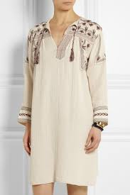 Native American Inspired Clothing étoile Isabel Marant Viola Embroidered Cotton Muslin Dress Net