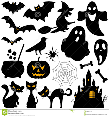 halloween silhouettes elements royalty free stock photos image
