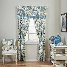 Waverly Curtain Panels Waverly皰 Floral Engagement Window Curtain Panel And Valance Bed
