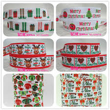 elastic ribbon wholesale q n ribbon wholesale oem 5 8inch 16mm christmas printed fold