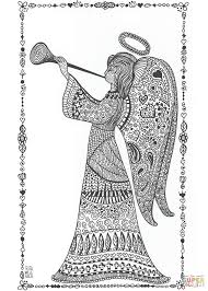 angel zentangle coloring page free printable coloring pages