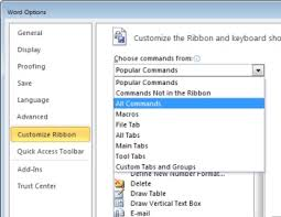 customize ribbon how to customize the word 2010 ribbon