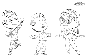 pj masks coloring pages exclusive villain firefly coloring pages