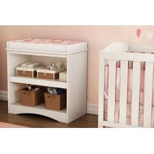 Changing Table Storage White Wood Baby Furniture Changing Table With Open Storage Space