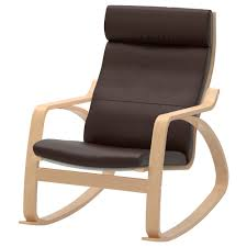 Rocking Chairs For Adults Poäng Rocking Chair Glose Dark Brown Ikea