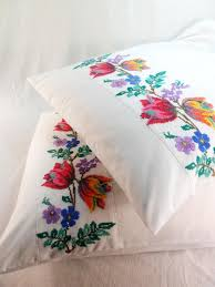 bedding and home decor embroidered pillowcase bedroom decor linen cotton floral home decor