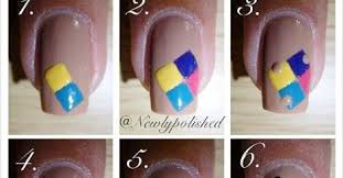 easy puzzle nail art design step by step tutorial calgary