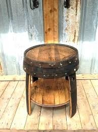 whiskey barrel table for sale whiskey barrel end table whiskey barrel end table projects to try