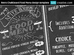 snack bar menu template retro chalkboard food menu design template psd by 123creative on