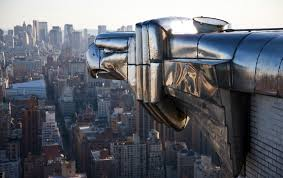 chrysler building nyc new york one of the gargoyles surveying