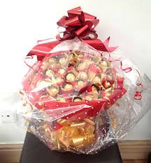 Birthday Gift Basket Large Ferrero Rocher Chocolate Gift Basket Bouquet 34 Items Xmas