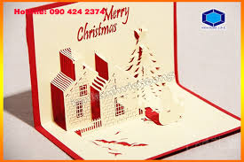 3d christmas cards design and printing 3d pop up christmas card in hanoi design and