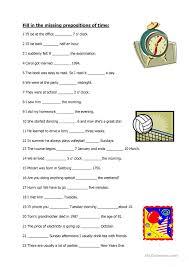 free worksheets preposition of time worksheets for grade 2