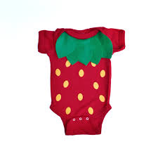 Strawberry Halloween Costume Baby Strawberry Kids Costume Food Bodysuit Halloween Costume